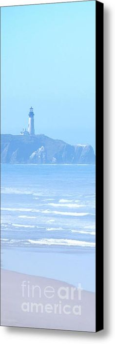 "Oregon Coast Lighthouse Canvas Print / Canvas Art By Flamingo Graphix John Ellis. Available in many formats, sizes and prices. Note: watermark ""Fine Art America"" will not appear on final print."