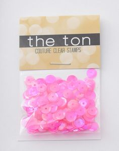 Taxi Night Pink Sparkling Clear Sequins - 6mm, 4mm – The Ton
