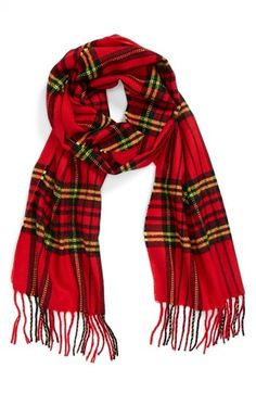 Topman Tartan Scarf Red One Size Autumn Winter Fashion, Winter Wear, Red Plaid Scarf, Tartan Kilt, Winter Mode, Poncho, Mode Outfits, Swagg, Winter Outfits