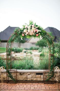 Wedding arbor  Photo by: Lindsey Mueller Photography