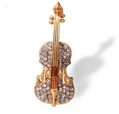 This beautiful Violin Brooch is the perfect gift for anyone who loves music! Size: 49mm*19mm