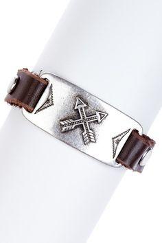 Arrow Leather Bracelet
