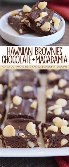 Hawaiian Brownies {Chocolate + Macadamia Nuts}