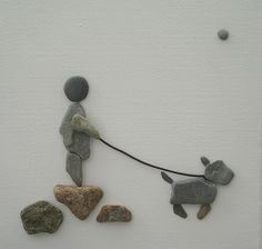 Pebble Art: Pebbles on canvas via Sandy Walker More