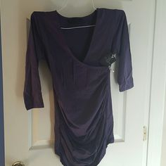 Eva Alexander shirt Faux wrap ruched maternity top Eva Alexander  Tops