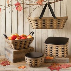 Tricia's Baskets: Ideas with #Khaki #Check #Baskets.