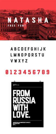 Natasha #font and 60 free typefaces