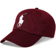 Polo Ralph Lauren Men's Big Pony Cap ($50) ❤ liked on Polyvore featuring men's fashion, men's accessories, men's hats, hats, holiday navy, mens caps, polo ralph lauren mens hats, mens caps and hats and mens hats