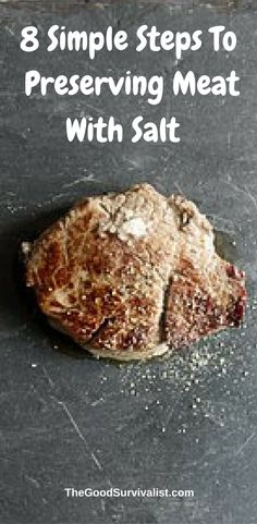 Just in case the power goes down for an extended period of time we  thought it would be a good idea to know how to preserve meat with salt. Click the link now so you can learn how to do it.   http://www.thegoodsurvivalist.com/8-simple-steps-to-preserving-meat-with-salt/