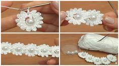 Crochet Mini Flower String - Tutorial - ilove-crochet