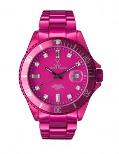 29a339ab8 See this and similar Toy Watch watches - A chic high sheen metallic pink  watch from the Toy Watch range. Made from lightweight aluminum with a  stone-set ...