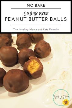 These sugar free peanut butter balls are perfect for an everyday snack, but delectable enough to bring to a holiday gathering! A great stevia low carb dessert! #holidaytreats #healthytreats #healthy #peanutbutter #sugarfree #steiva #steviadesserts #trimhealthymama #pumpkinsbites #THM #thmfoodie #trimhealthhymamarecipe #trimhealthy #newrecipe