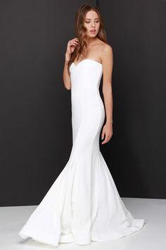 Chic Ivory Dress - Strapless Dress - Maxi Dress - Mermaid Dress - $205.00