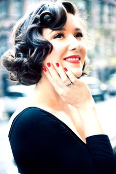 short old hollywood hair - Google Search