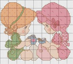 meninas-caf%C3%A9-bonecas+ponto+cruz.jpg 598×530 píxeles