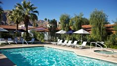 cheap, cute hotel in palm springs. Alcazar Palm Springs: Alcazar's pool and hot tub are enhanced by sky-high palms and mountain views.