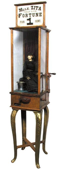 Roover Madame Zita Fortune Teller Machine~Image © Randy Inman Auctions Inc.  http://www.kickstarter.com/projects/nickmathis/zoltar-speaks