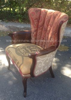 Vintage Accent Chair -  The Paisley Lady Chair. $1,100.00 + $150.00 shipping, via Etsy.