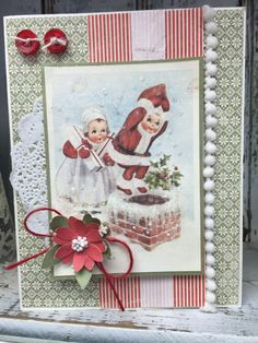 Vintage in KC store. Card class using Pion Design's Christmas in Norway papers.