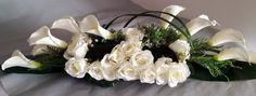 Nowoczesny stroik na cmentarz w bieli nr. 110 — Świąteczne Atelier Flower Boxes, Flowers, Funeral, Floral Wreath, Bouquet, Wreaths, Diy, Gardening, Decorating