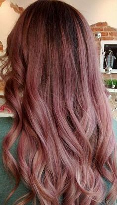dark roots to dirty pink hair
