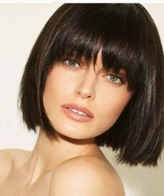Short bob hairstyles with bangs this year are easily about celebrating the best looks of latest short bob haircuts for ladies. Vintage Hairstyles, Hairstyles With Bangs, Straight Hairstyles, Cool Hairstyles, Bangs Hairstyle, Ladies Hairstyles, Hairstyle Short, Hairstyles 2018, Hairstyle Ideas
