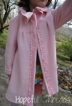 Hopeful Threads: Pattern Review - Girls Fleece Coat by Bumbleberries Boutique