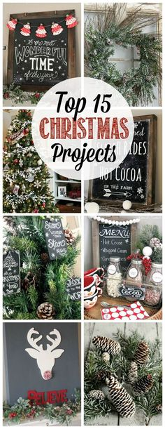 Great collection of Christmas projects - Christmas crafts, fun food recipes, and holiday home decor ideas.