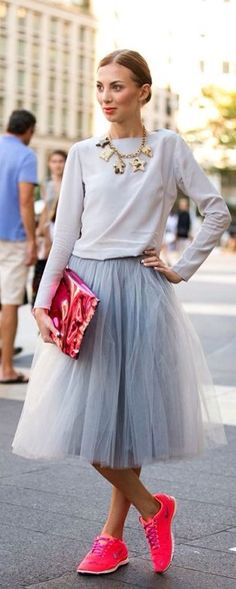 Tulle n Neon Snikers