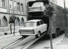Vervoer van nieuwe Trabantjes