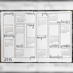 Image result for bullet journal ideas year at a glance