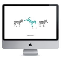 DOWNLOAD | Be You Desktop wall paper with zebras