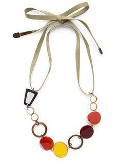Marni Acetate, Wood, & Horn Sunglasses Necklace