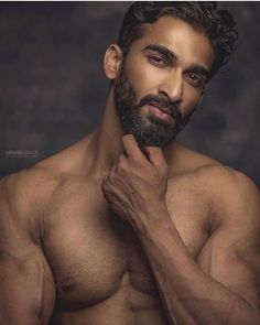 Hot and Beard! The Handsome Indian Man By Hairy Men, Bearded Men, Handsome Indian Men, Male Torso, Indian Man, Handsome Faces, Hairy Chest, Shirtless Men, Good Looking Men
