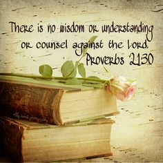 Trust God's wisdom, understanding, and counsel.  He is all you need.