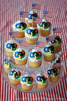 Olympic Ring Cupcakes [Olympic Party]