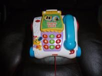 FISHER PRICE TODDLER BABY TOYS MUSICAL PULL ALONG TELEPHONE 2003 FREE SHIPPING