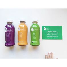 The winner of our #40weeks #giveaway, Kyra F., received her juices and took this awesome photo! Thanks @kyrafaulkner!