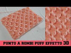 PUNTO A ROMBI PUFF, EFFETTO 3D - NUNZIA VALENTI - YouTube