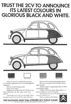 Citroën Publicity GB 2CV Dolly newspaper ads