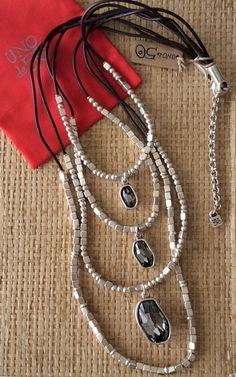 """NWT UNO DE 50 SILVER NECKLACE """"AND YES"""" COL0813HUMMTL0 C:SMOKE $529 in Jewellery & Watches, Costume Jewellery, Necklaces & Pendants 