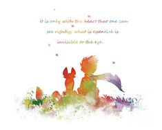 The Little Prince Art Print #littleprince #fox #quote #lepetitprince