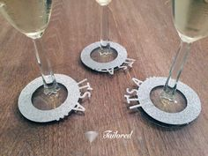Wine Charms Wine Tags Name Tags Gender Reveal by TailoredDecorLtd