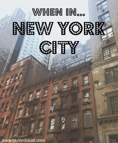 When In... New York City! A travelogue of the best and quickest trip to the Big Apple. Discover what you can and should fit into 50 hours and where you should stay in NYC! Pin now, read later.