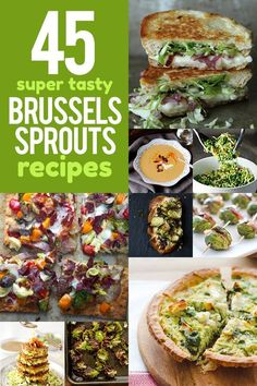 Looking for a fun, new way to prepare your favorite mini cabbage? Check out this list of 45 delicious Brussels sprouts recipes!