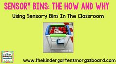 Sensory Bins:  The How And Why