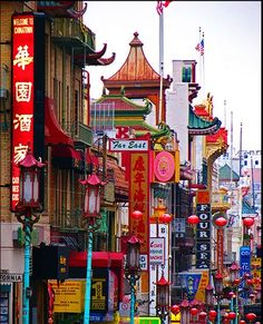 China Town-San Francisco.  Crowded and hurried, a GREAT neighborhood.