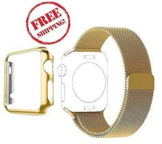 Milanese Loop Band Protective Case Accessories For Apple Watch 42mm Series1 GOLD #MilaneseLoopBand