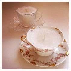 Teacup Candles: Other use for Scentsy Wax