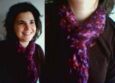 Speedy shawl: just wrap a skein around your neck.